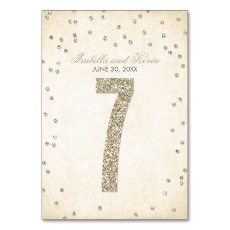 Glitter-Blickconfetti-Wedding Tischnummern - 7