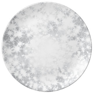 Glitter-funkelnd graue silberne Platte Porzellanteller