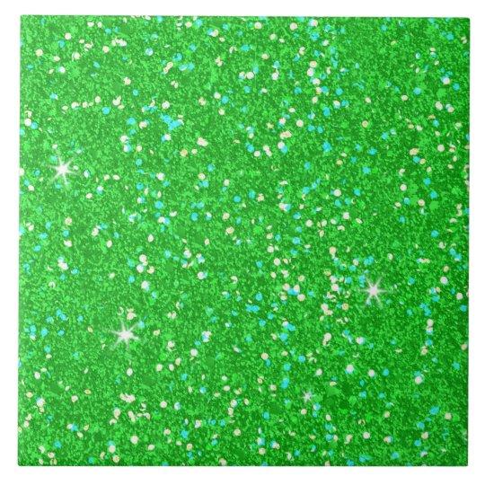 Glitter-glänzender Schein Große Quadratische Fliese
