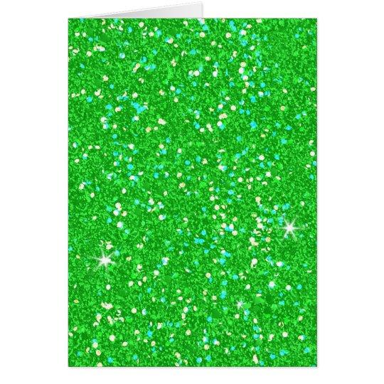 Glitter-glänzender Schein Grußkarte