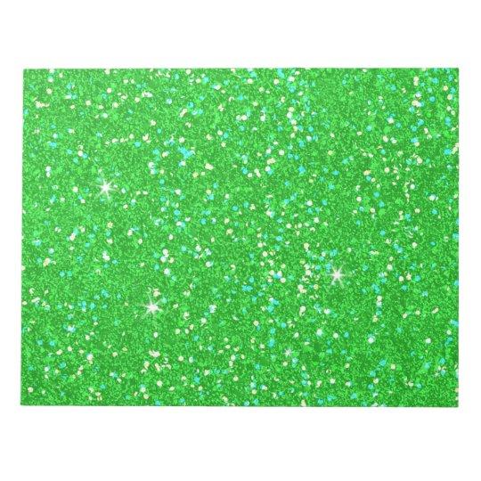 Glitter-glänzender Schein Notizblock