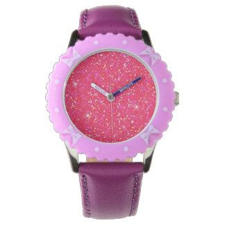 Glitter-glänzender Schein Uhr
