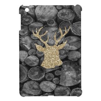 Glitter-Goldhirsch-Kopf mit Klotz iPad Minifall iPad Mini Hülle