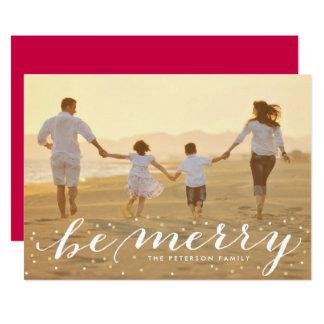 Glitter ist fröhliche Feiertags-Foto-Karte 12,7 X 17,8 Cm Einladungskarte