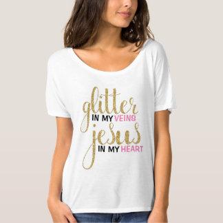 Glitter u. Jesus-Freund-T-Stück T-Shirt