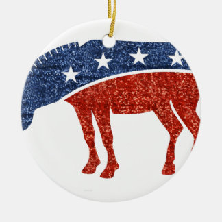 Glitterdemokratesel Rundes Keramik Ornament