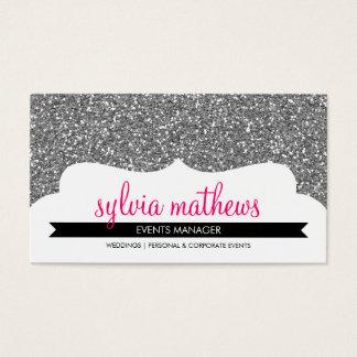 Glitterschein-Silberrosa DER GESCHÄFTS-KARTE Visitenkarte