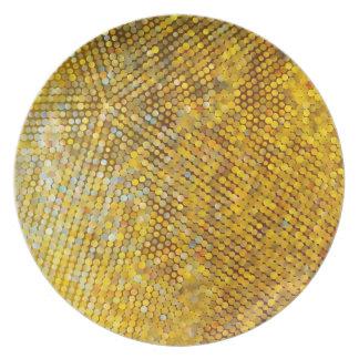 Glittery Goldmosaik Teller