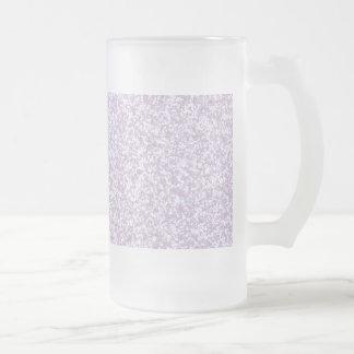 Glittery Lavendel Mattglas Bierglas