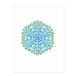Glittery Weihnachtsschneeflocke-Eiskristall Postkarte