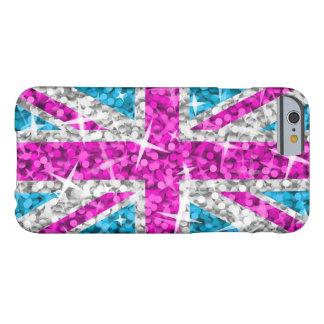 Glitz BRITISCHES Rosa DruckiPhone 6 Kasten Barely There iPhone 6 Hülle