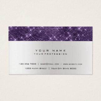 Glitzer-Amethyst lila grauer silberner städtischer Visitenkarte
