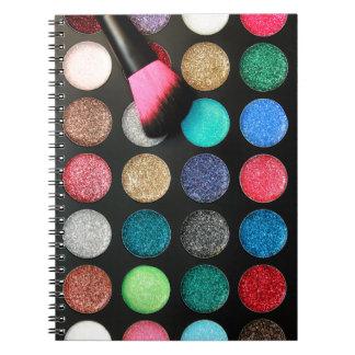 Glitzer-Make-upnotizbuch Notizblock