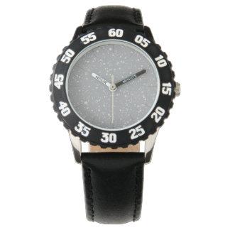Glitzer Stars4 - Silber Uhr
