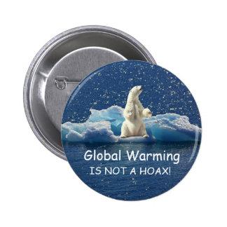 GLOBALE ERWÄRMUNG IST NICHT ein SCHERZ, polar Runder Button 5,1 Cm