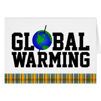 Globale Erwärmungs-Karte Karte