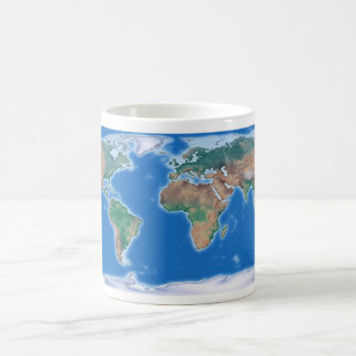 Globale Kaffeetasse-Weltkarte Tasse
