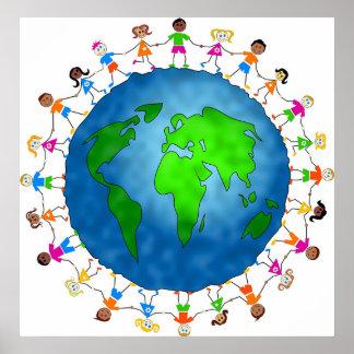 Globale Kinder Poster