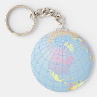 Globe Porte-clé Rond