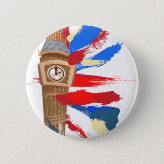 Glockenturm Big Bens Westminster Runder Button 5,7 Cm