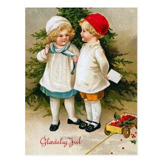 """""""Gloedelig Jul """" Postkarte"""