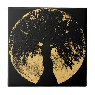 Glowees Mond-Eichen-Göttin Kleine Quadratische Fliese