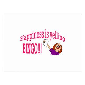 Glück-Bingo Postkarte