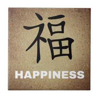 Glück-chinesisches Schriftzeichen Fliese