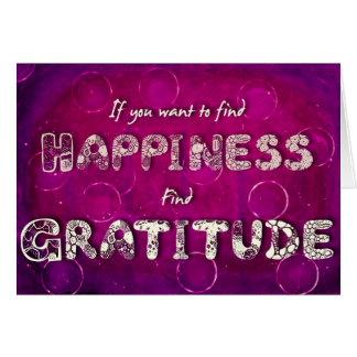 Glück-/Dankbarkeits-Zitat-Gruß-Karte Karte