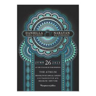 Glück der Hochzeits-Einladungs-| Viridian Karte