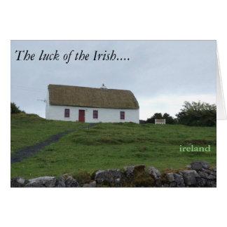 Glück der Iren in Irland-Karte Mitteilungskarte