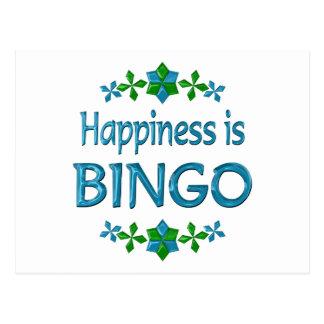 Glück ist Bingo Postkarte
