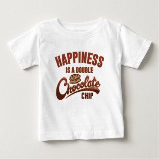 Glück ist ein doppelter Schokoladensplitter Baby T-shirt