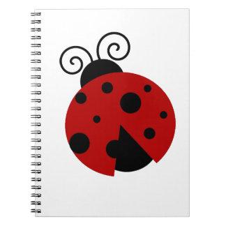Glück ist ein Marienkäfer-Cartoon Spiral Notizbuch