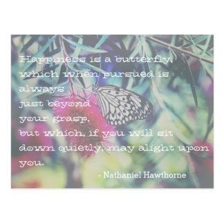 Glück ist ein Schmetterling - Inspirieren des Postkarte