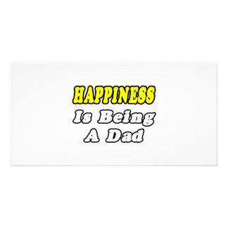 Glück ist ein Vati Photokartenvorlagen