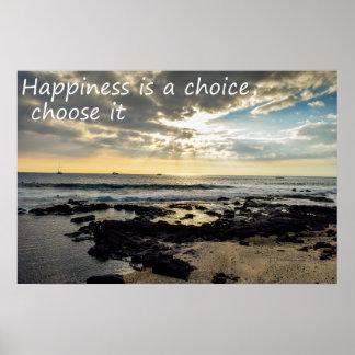 Glück ist eine Wahl Poster