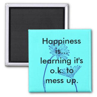 Glück ist… Kühlschrank-Magnet Quadratischer Magnet