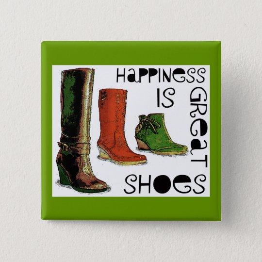 Glück ist quadratischer button 5,1 cm