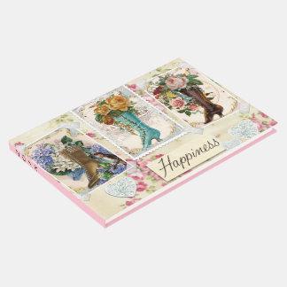 Glück ist viktorianische Steampunk Stiefel Gäste Buch