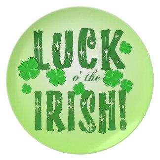 Glück O, das der irische sieben glückliche Klee Teller
