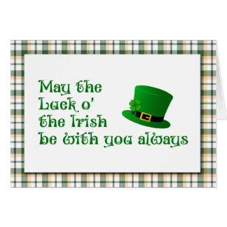 Glück-o die irische Heiligen Patrick Tageskarte Grußkarte