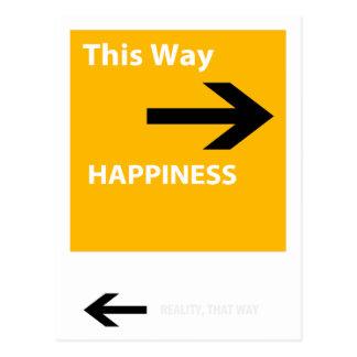 Glück oder Wirklichkeit Postkarte