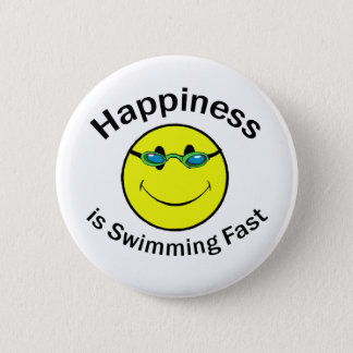 Glück schwimmt schnell runder button 5,1 cm