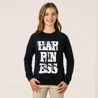 Glück-Typografie-Inspirational motivierend Sweatshirt