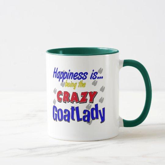 Glück verrückte Goatlady Tassen