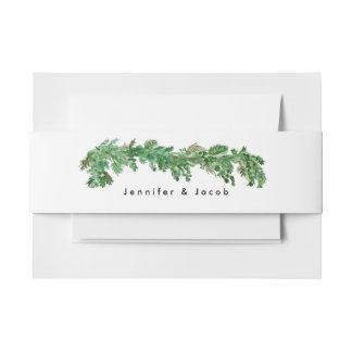 Glücklich seitdem Grün-Einladungs-Bauch-Band Einladungsbanderole
