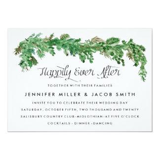 Glücklich seitdem Grün-Hochzeits-Einladung 12,7 X 17,8 Cm Einladungskarte