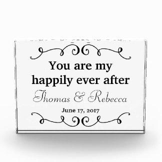 Glücklich seitdem   Wedding Datum Fotoblock
