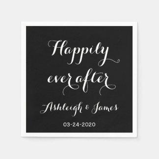 Glücklich seitdem Wedding PapierNamkins Servietten